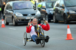 Athlete with mobility disabilities Stock Photography