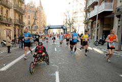 Athlete with mobility disabilities Royalty Free Stock Images