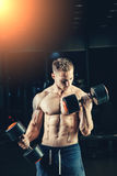 Athlete muscular bodybuilder training back with Stock Images