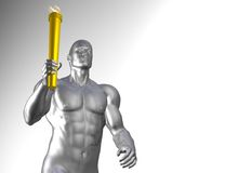 Athlete with olympic torch Royalty Free Stock Photos