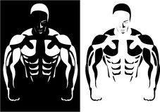 Athlete On The Black And White Background Royalty Free Stock Images
