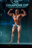 Athlete participates in Bodybuilding Champions Cup Stock Photo