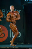Athlete participates in Bodybuilding Champions Cup Stock Image