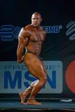 Athlete participates in Bodybuilding Champions Cup Stock Image