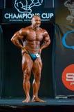 Athlete participates in Bodybuilding Champions Cup Stock Photos