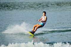 Athlete performing stunt during Rip Curl Singapore National Inter Varsity Stock Image