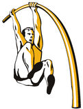 Athlete Pole vaulting Royalty Free Stock Image