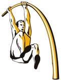 Athlete Pole vaulting Royalty Free Stock Image