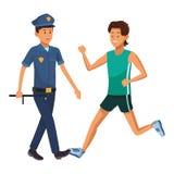 Athlete and policeman. Uniform vector illustration graphic design vector illustration