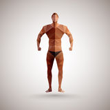 Athlete from polygons Royalty Free Stock Photo