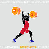 Athlete Power lifter. Greek art stylized heavy weight power lifter Stock Images