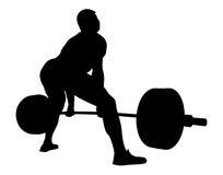 Athlete powerlifter exercise deadlift stock illustration
