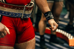 Athlete is a powerlifter Stock Photos