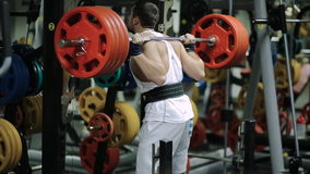 Athlete powerlifter sets in the gym a new record stock footage