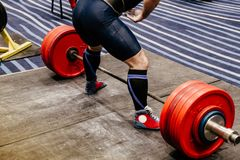 Athlete powerlifter royalty free stock image