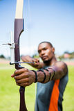 Athlete practicing archery Stock Photography
