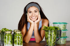 Athlete Preparing Meals Royalty Free Stock Photo