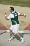 Athlete Preparing To Throw A Discus Stock Photography