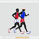 Athlete Racewalkers Stock Photos