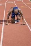 Athlete Ready To Race royalty free stock photos