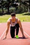 Athlete ready to run Royalty Free Stock Photo