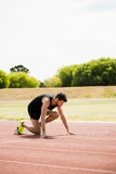 Athlete ready to run Royalty Free Stock Images