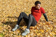 Athlete relaxing Royalty Free Stock Images