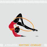Athlete Rhytmic Gymnast Royalty Free Stock Photos