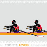 Athlete Rowers Royalty Free Stock Photos