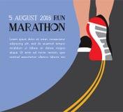Athlete runner feet running on road closeup on shoe. woman fitness sunrise jog workout wellness concept. vector illustration
