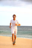 Athlete runner training healthy cardio on beach Royalty Free Stock Photography
