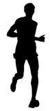 Athlete runner vector illustration. Dynamic running marathon athlete runner vector illustration Stock Photo