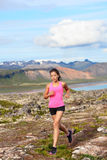 Athlete runner woman running in nature Royalty Free Stock Images