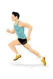 Athlete running. Illustration of athlete running on white background vector illustration