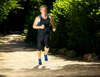 Athlete Running Fast Royalty Free Stock Photo