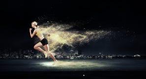 Athlete running fast Stock Image