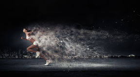 Athlete running fast Royalty Free Stock Image