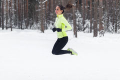 Athlete running fit woman Sporty girl jogger Stock Photos