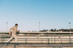 Athlete running man stock photo