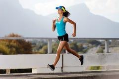 Athlete running outdoors Stock Photos