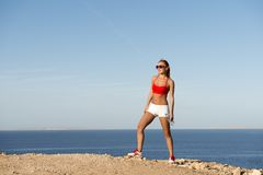 Athlete after running session Stock Images