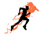 Athlete. Running to the finish sports Royalty Free Stock Photos
