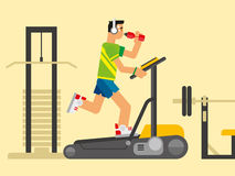 Athlete Running on a Treadmill Stock Photography