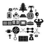 Athlete salary icons set, simple style. Athlete salary icons set. Simple set of 25 athlete salary vector icons for web isolated on white background Stock Images