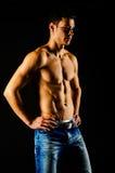 Athlete without shirt stock photo