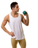 Athlete With Shot Royalty Free Stock Photos