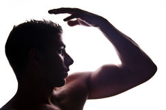 Athlete silhouette. Conceptual photography and versatile Stock Photo