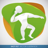 Athlete Silhouette Practicing Shot Put Thrower in a Sports Event, Vector Illustration Stock Photos