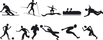 Athlete Silouettes royalty free illustration