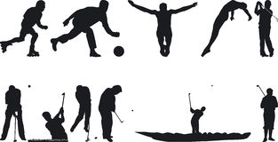 Athlete Silouettes Royalty Free Stock Photography